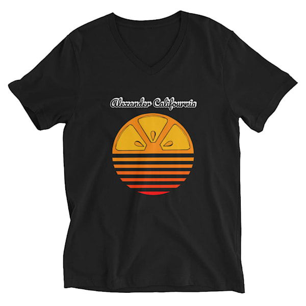 Califournia Black V Neck Tee | Alex Ranniello Art