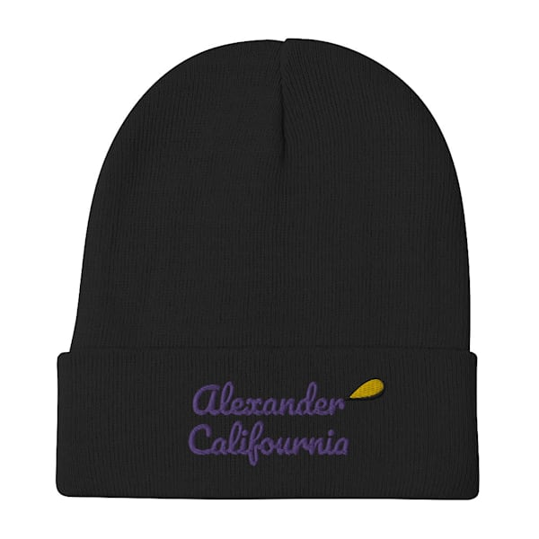 Califournia Black Winter Beanie | Alex Ranniello Art
