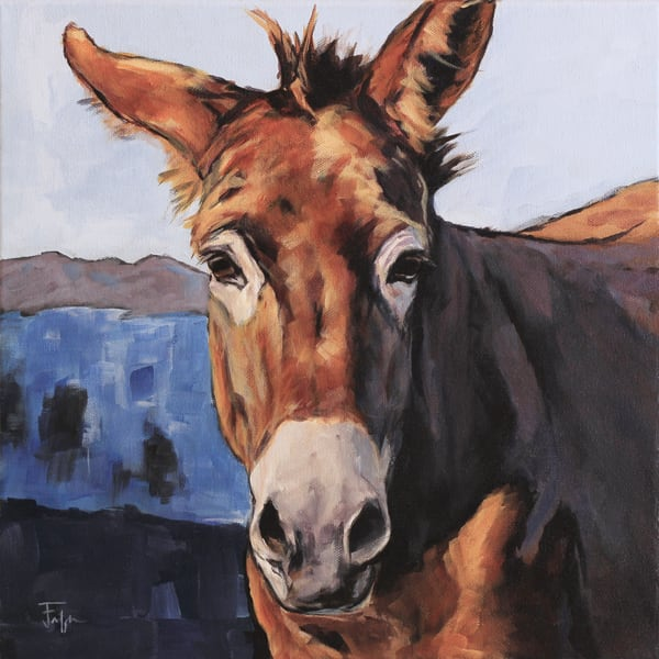 donkey by the pond