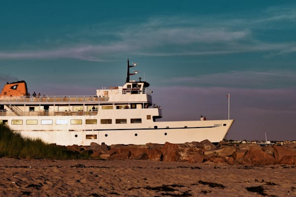 M/V Anna C Evening Departure by Keith R Wahl, Made From RI Gallery