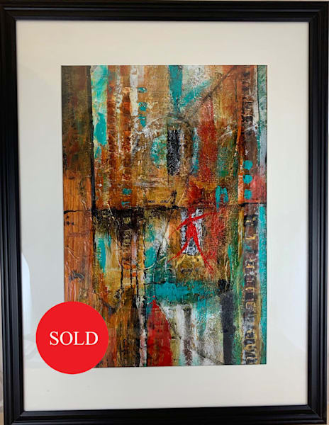 Texture, acrylic, turquoise, orange, gold, black, red, abstract, art, fine art
