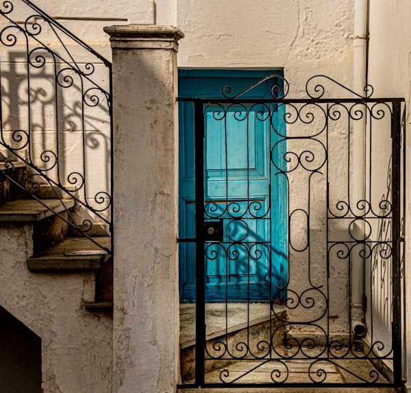 Blue Door Behind Gate, Skopelos Greece/Sold by Ben Asen Photography