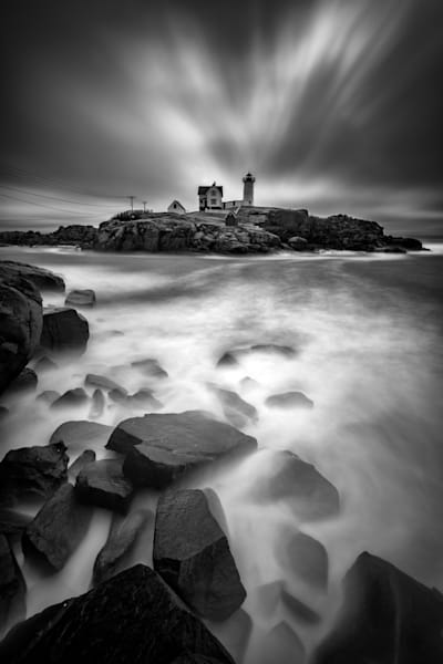 The Nubble in Black & White | Shop Photography by Rick Berk