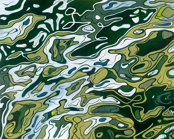 Surface Of The Amazon Art   Margaret Biggs Fine Art