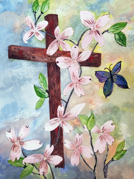 C Perkins   Dogwood Cross W/ Butterfly Art | Branson West Art Gallery - Mary Phillip