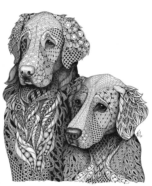 "Goldens Art   Kristin Moger ""Seriously Fun Art"""