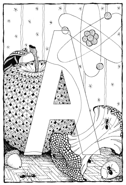 "Alphabet A | Kristin Moger ""Seriously Fun Art"""