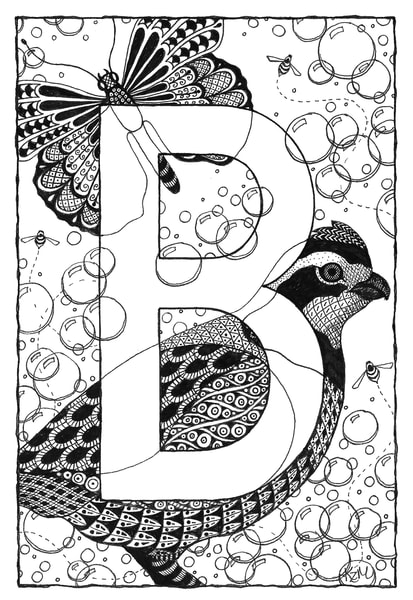 "Alphabet B | Kristin Moger ""Seriously Fun Art"""