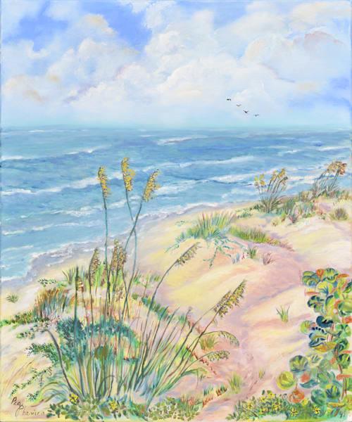Florida Beach, From an Original Oil Painting