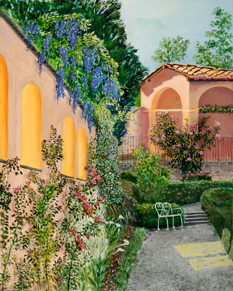 Agapa Garden, From an Original Oil Painting