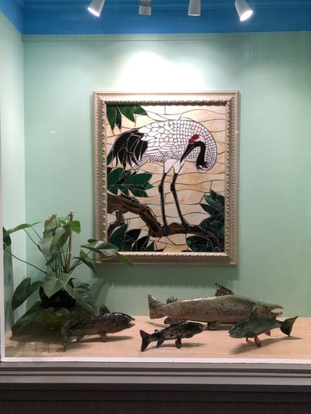 Sharp Art Kelowna Framed Crane