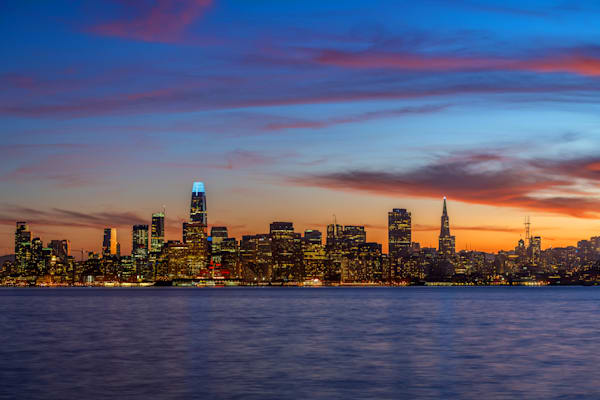 City of San Francisco Skyline at Sunset - San Francisco Images