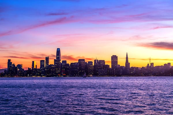 Colorful San Francisco Sunset - San Francisco Skyline Pictures