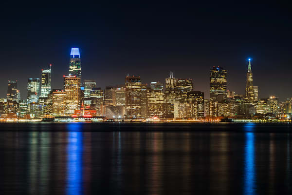 Nighttime San Francisco Skyline - Pictures of Downtown San Francisco