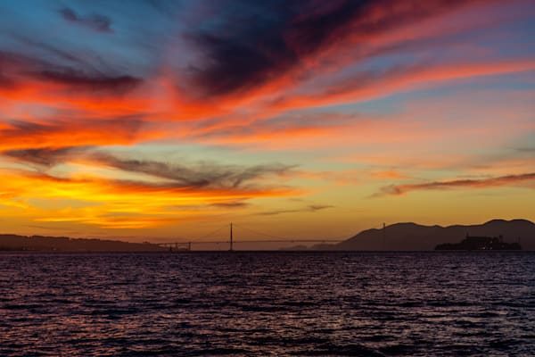 San Francisco Bay Sunset - San Francisco Best Pictures | William Drew