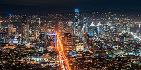 Twin Peaks View of Downtown San Francisco - San Francisco City Images