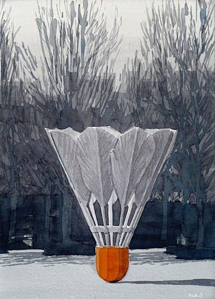 art, watercolor, kansas-city, shuttlecock, nelson-atkins