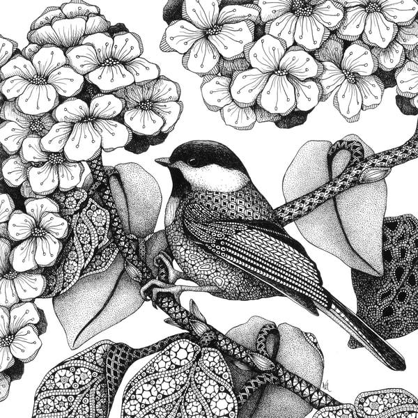 "Chickadee | Kristin Moger ""Seriously Fun Art"""