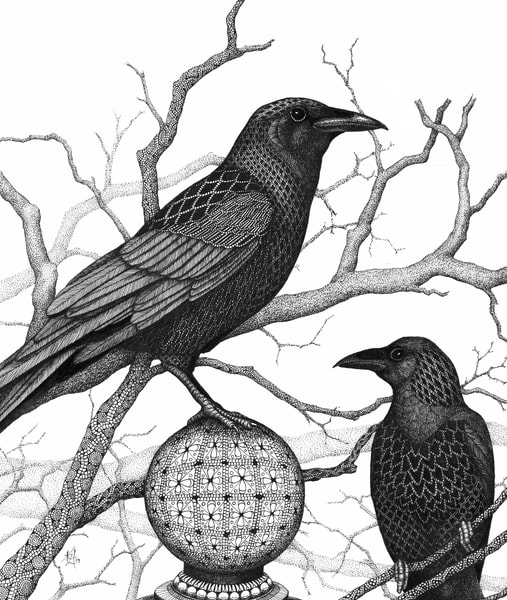 "Crows | Kristin Moger ""Seriously Fun Art"""