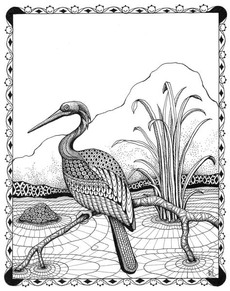 "Heron | Kristin Moger ""Seriously Fun Art"""