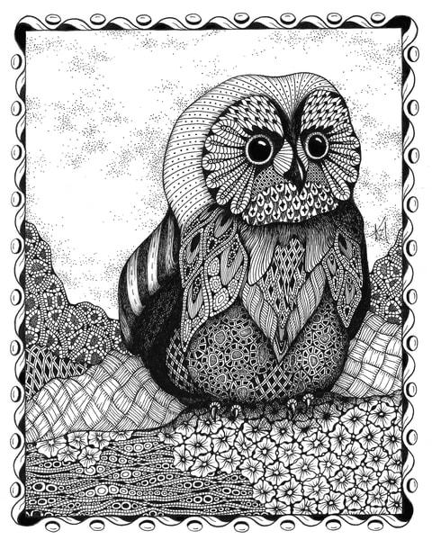 """Owlet   Kristin Moger """"Seriously Fun Art"""""""