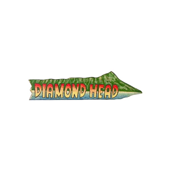 Diamond Head Magnet by Pictures Plus Prints