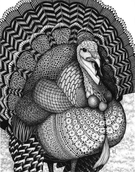 """Turkey   Kristin Moger """"Seriously Fun Art"""""""