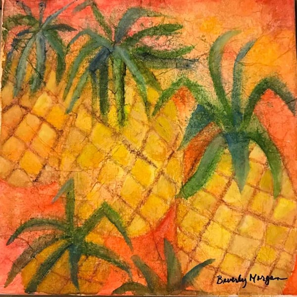 Pineapples, From an Original Watercolor Painting