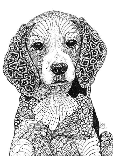 "Beagle | Kristin Moger ""Seriously Fun Art"""