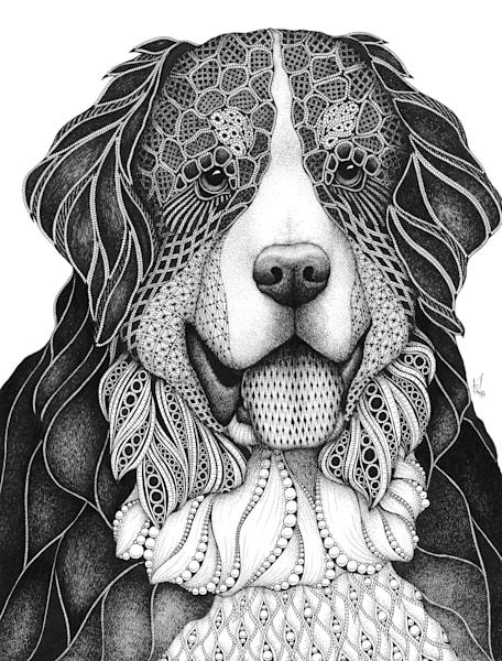 "Bernese Mountain Dog | Kristin Moger ""Seriously Fun Art"""