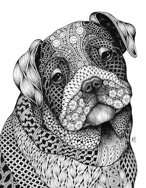 "Bulldog Pup | Kristin Moger ""Seriously Fun Art"""