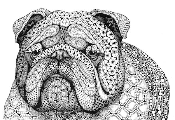 "English Bulldog by Kristin Moger ""Seriously Fun Art"""