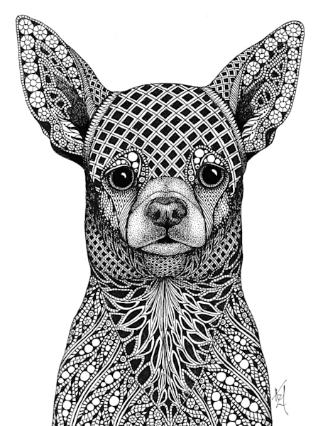 "Chihuahua | Kristin Moger ""Seriously Fun Art"""