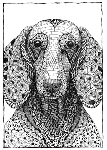 "Dachshund | Kristin Moger ""Seriously Fun Art"""