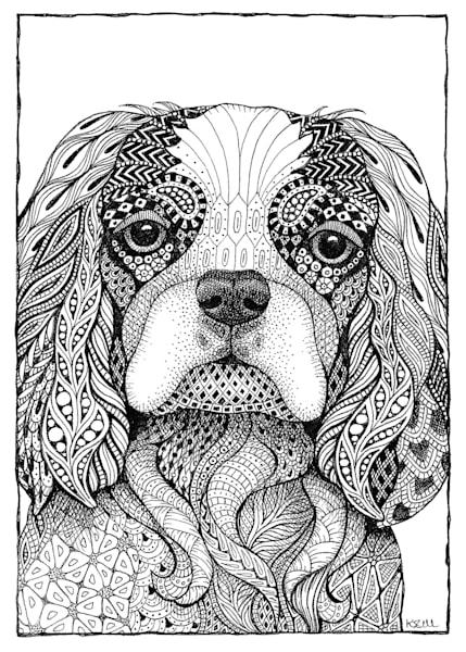 "Cavalier King Charles Spaniel | Kristin Moger ""Seriously Fun Art"""