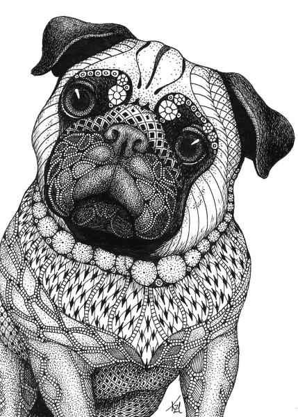 "Pug | Kristin Moger ""Seriously Fun Art"""