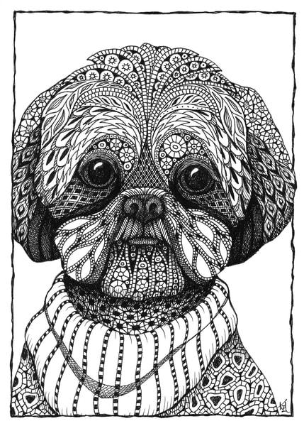 "Riley (Shih Poo) | Kristin Moger ""Seriously Fun Art"""