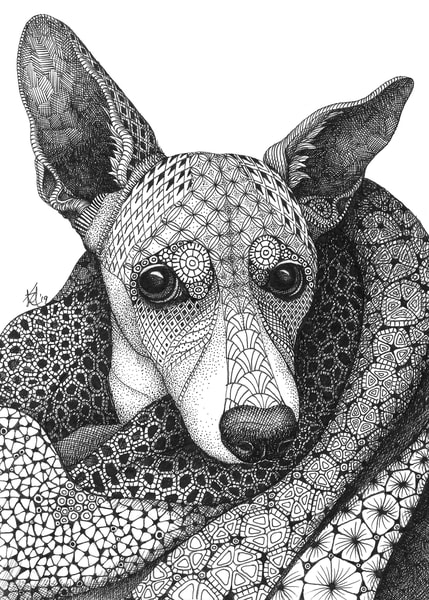 "Snuggle Bug | Kristin Moger ""Seriously Fun Art"""