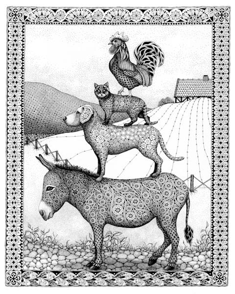 FARM ANIMALS  canvas