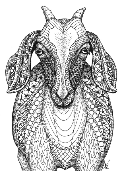 "Goat | Kristin Moger ""Seriously Fun Art"""