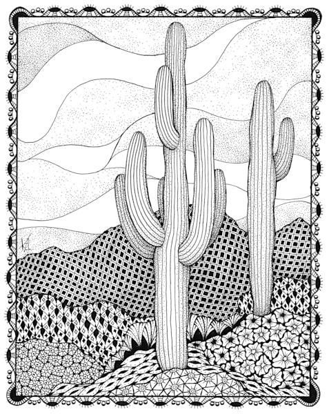 "Cactus | Kristin Moger ""Seriously Fun Art"""