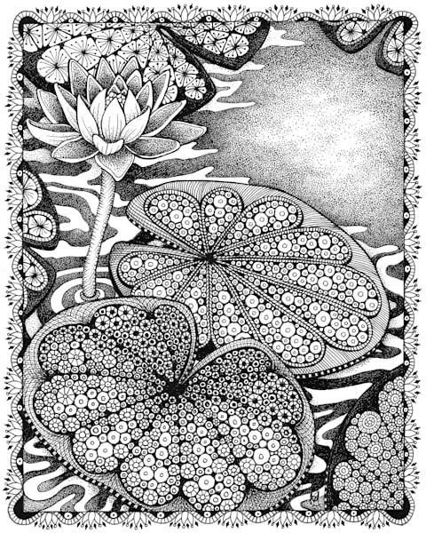 "Waterlilies | Kristin Moger ""Seriously Fun Art"""