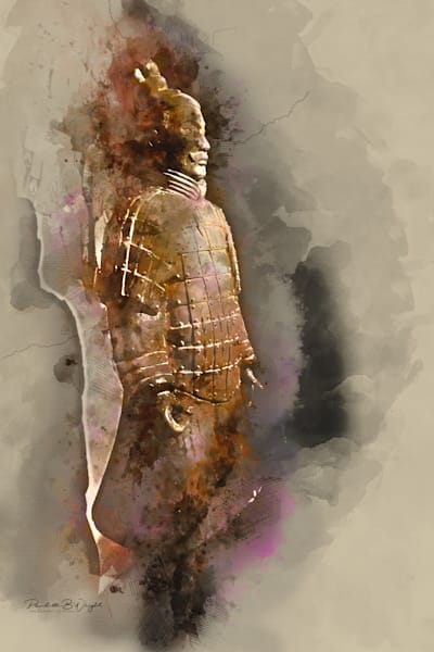 Digitally Enhanced Image of Terra Cotta Warrior