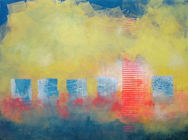 The Crowd Cheered – Original Abstract Painting & Prints | Cynthia Coldren Fine Art