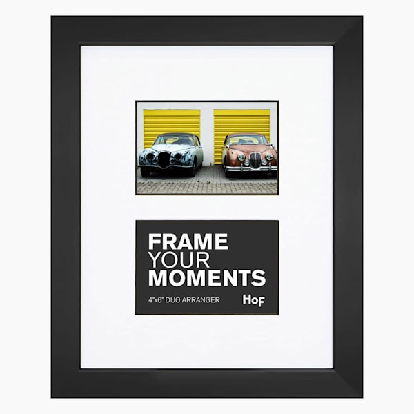 Collage Frame | 4x6 Black & White Duo