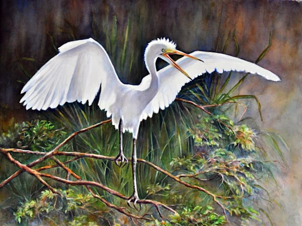 Out on a Limb, From an Original Watercolor Painting
