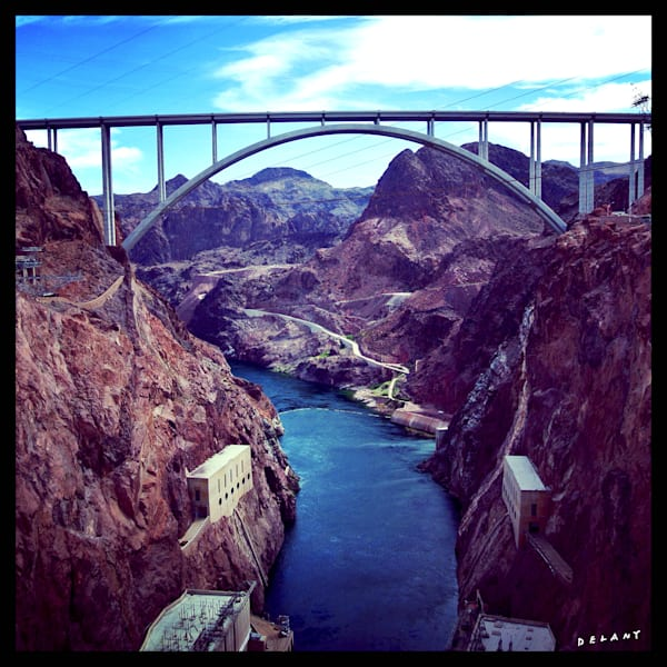 Hoover Dam Bridge Instagram Print by George Delany