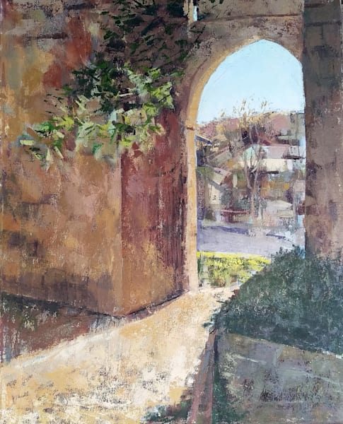 """Orvieto Fortress Gate"" Original Oil Painting 30"" X 24""  Art 