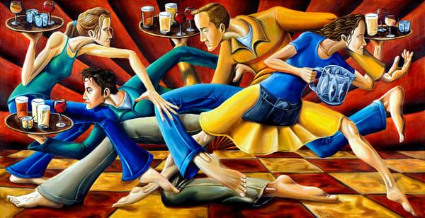 Waiters-Servers-Spear-painting-Columbia