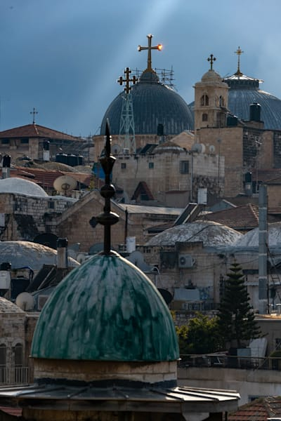 Christian domes of Jerusalem